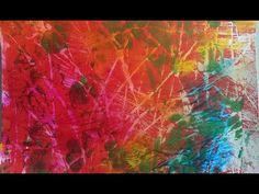 , , Demonstration of making several abstract pieces using acrylic paint. Using Acrylic Paint, Simple Art, Art Techniques, Video, Printmaking, Tutorials, Paintings, Artwork, Youtube