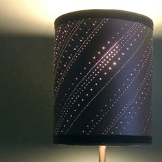 Punctured Lampshade - Dotted Stripes by Luise Stromberg, via Behance