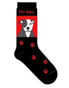 Pit Bull Dog Socks Lightweight Cotton Crew Stretch Egyptian Made