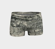 Experimental monotype on dictionary page transformed into workout shorts…