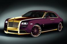 Rolls Royce Ghost Purple Modifications by Fenice Milano With 24k Gold Covering