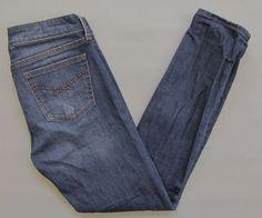 """Gap 1969 Always Skinny Jeans 25 0 Skimmer Medium wash Studded Stretch Denim 27""""  #GAP #SlimSkinnyskimmerankle"""