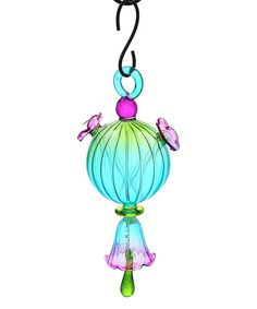 Look at this Blue Hanging Hummingbird Feeder & Bell on #zulily today!