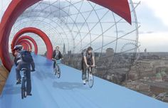 SkyCycle: London Concept Takes Biking to New Heights