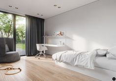 House in Olsztyn, Poland. Project is made by Tamizo Architects (Lodz, Poland)Visualization by Terodesign ( Krakow, Poland ) Interior Rendering, Home Interior Design, Residential Architecture, Architecture Design, Tamizo Architects, Amazing Spaces, Room Inspiration, Kids Bedroom, Sweet Home