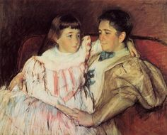 Portrait of Mrs Havemeyer and Her Daughter Electra 1895 | Mary Cassatt | Oil Painting