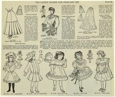 The ladies' review for February 1906  Skirts & girls dresses  New York Public Library