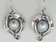 Feminine pearls silver #earrings