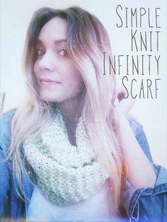 DIY: Simple Knit Infinity Scarf