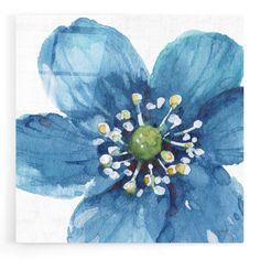 Epic Art 'Blue and Green Garden V' by Lisa Audit, Acrylic Glass Wall Art - 12x12