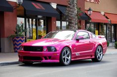 Pink Mustangs Cars Oh Yeah me, myself, and I would Love to feel Young and So Beautiful in this car