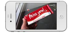 Much the way recipients of German Qkies can scan the QR code on each cookie to be directed to a video, photo or personalized message, so Greek consumers can use augmented reality and a Lacta chocolate bar to convey a secret message to a friend.