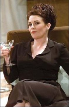 """Karen Walker    """"Well, deal me in. I've got a lifetime membership to the losers club. Hm-mm. I've been dumped by one-ton billionaires, heads of state, and every member of Crosby, Stills, Nash, and Young, but I'm not naming names. What's so great about another person, huh? All they do is manhandle your boobs and eat all the ham."""""""