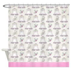 Christmas Holiday Bells Shower Curtain D38