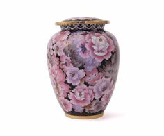 Cloisonne Blush Cremation Urn - Large