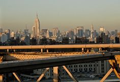 Manhattan Skyline from the Brooklyn Bridge by FineArtStreetPhotos