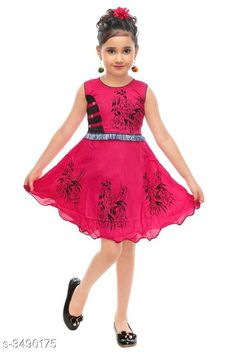 Checkout this latest Frocks & Dresses Product Name: *Trendy Cotton Kid's Girl's Frock* Fabric: Cotton Sleeve Length: Sleeveless Pattern: Printed Multipack: Single Sizes: 1-2 Years, 2-3 Years, 4-5 Years Country of Origin: India Easy Returns Available In Case Of Any Issue   Catalog Rating: ★4 (433)  Catalog Name: Little Princess Trendy Cotton Kid's Girl's Frocks Vol 1 CatalogID_486121 C62-SC1141 Code: 452-3490175-465