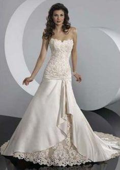 tonnantes a-line/princess chapelle complaisance robes de train de mariage de princesse