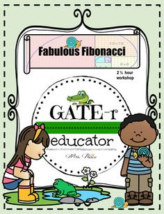 Easy Prep. Ready-to-Go Printables! Explore the Fibonacci Sequence in your classroom with this exciting enrichment resource! This is a complete 2.5 Hour Enrichment Workshop perfect for a GATE pullout program, Monthly Gifted Curriculum, Parent-led enrichment, Grade-level rotation, or Homeschool | Gifted and Talented Education (GATE) and enrichment ideas for elementary classrooms | STEM | Differentiation | Brain-based Learning | Gifted Children | Creative Problem Solving