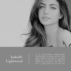 Isabelle Lightwood #ShadowhuntersTV