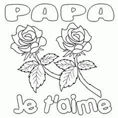 Coloriage Anniversaire Papa Je Taime.Maillet Maillet7251 Sur Pinterest
