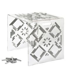100K: A Stool or Side Table Made from Plexiglas