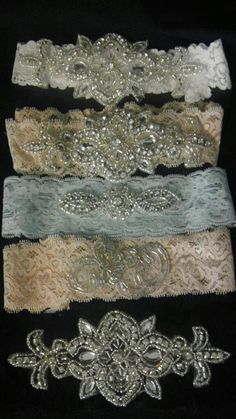 Lace bridal garter set - vintage-inspired FREE SHIPPING. $35.50, via Etsy.