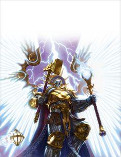 Age of Sigmar Artwork   Stormcast Eternals   Celestant Prime