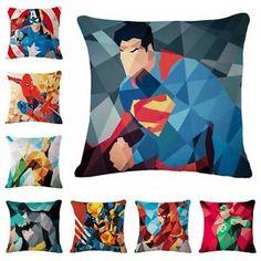 American Cartoon Superhero Throw Pillow Case Set Cushion Cover Home Decor - Chinahof on eBay #homedecor #superhero #marvel