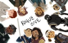 Rogue One Art. OMG THEY INCLUDED TOENAIL (the odd furry creature)!