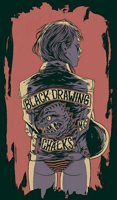 Black Drawing Chalks by Bicicleta Sem Freio, via Flickr