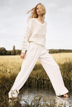 Chloe Resort / Pre-Spring 2013 - neat photo idea with mirror in the field, looks like she's posing on water.