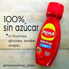 KETCHUP Prima Light: 100% sin azúcar, fructosa, glucosa, jarabe, sirope... Apto Dukan desde fase Ataque