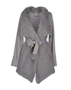 YOOX.Core.Meta.SeoTag Light Grey Rabbit coat