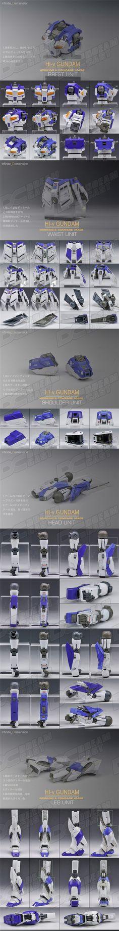 MG 1/100 HI-v ガンダム 改造パーツ