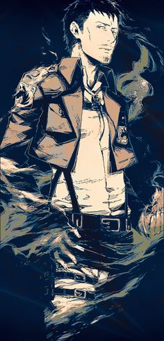 Tags: Anime, Mustache, Facial Hair, Shingeki no Kyojin, 15000 (Artist), Nile Doak