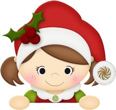 CHRISTMAS, LITTLE GIRL CLIP ART