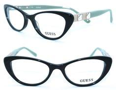 Eyeglass Frames: Guess Gu2415 Blk 51/17 New Black Authentic Women Designer Eyeglasses Frame -> BUY IT NOW ONLY: $48.98 on eBay!