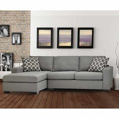 Iron Sofa Bed with Left Hand Facing Chaise