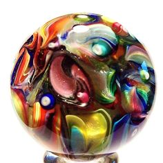 "EDDIE SEESE ART GLASS 2"" JELLYFISH FIELDS MARBLE #EddieSeese #Contemporary"