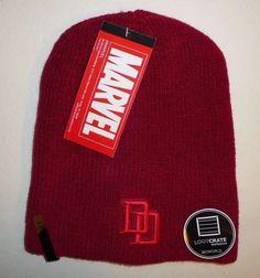 Daredevil / Punisher Reversible Beanie Hat by Bioworld Loot Crate NEW! Marvel  #Bioworld #ReversibleSlouchStyleBeanie