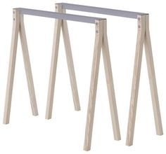 Split Pair of trestles Natural / grey by Nomess