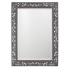 "Howard Elliott 6041CH Bristol 36"" x 26"" Rectangle Glossy Charcoal Gray Mirror Grey Home Decor Mirrors Lighting"