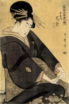 Kitagawa Utamaro(喜多川歌麿 c.1753ー1806)「Woman at the Height of Her Beauty」(c.1790s)