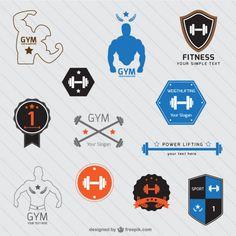 Retro Gym | Logo Templates | Gym Logo, Gym and Ranges