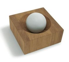 Mortar and pestle by Sagaform. I just want to hold the sphere and crush herbs for hours...