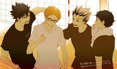 Haikyuu!! #hq #kuroo #tsukishima #bokuto #akaashi