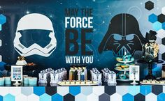 This Unique Star Wars Birthday Party features geometric and galactic inspired decor and desserts. What a unique spin on the Star Wars theme.