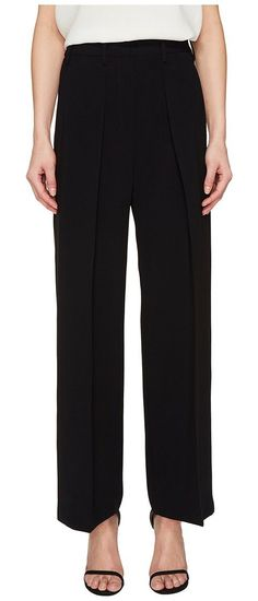 Neil Barrett Light Crepe Stretch + Raso Accoppiato (Black) Women's Casual Pants - Neil Barrett, Light Crepe Stretch + Raso Accoppiato, PNPA372C E102C, Apparel Bottom Casual Pants, Casual Pants, Bottom, Apparel, Clothes Clothing, Gift, - Street Fashion And Style Ideas