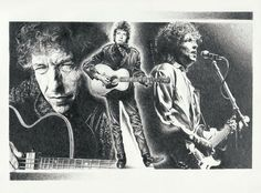 Bob Dylan Original Sketch Prints - Poster Size - Black & White - Features Bob Dylan in concert. Print of Highly-Detailed, Handmade Drawing By Artist Mike Duran   http://citymoonart.com/bob-dylan-original-sketch-prints-poster-size-black-white-features-bob-dylan-in-concert-print-of-highly-detailed-handmade-drawing-by-artist-mike-duran/